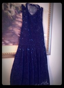 Blue Lace and Sequins 👗 Dress